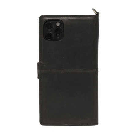 Apple iPhone 11 Pro Bookcase Hoesje Zwart Leer