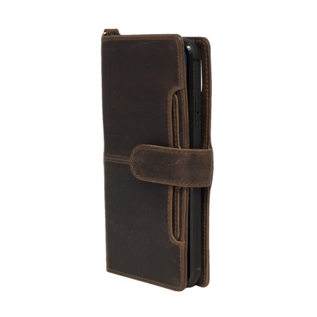 Apple iPhone 8 Bookcase Hoesje Donkerbruin Leer