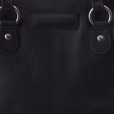 Ladies Backpack Crossbody Bag Shoulder Bag Of Black Leather