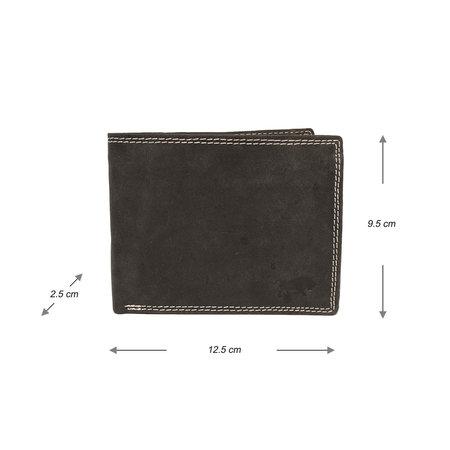 Heren Portemonnee Met RFID Van Zwart Buffelleer