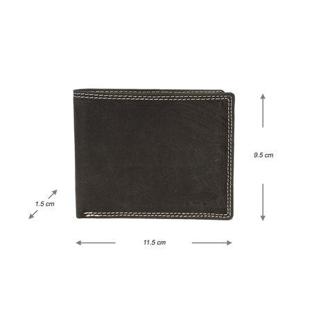 Heren Portemonnee Billfold Met RFID Van Zwart Leer