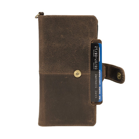 Apple iPhone 8 Plus Bookcase Hoesje Lichtbruin Leer