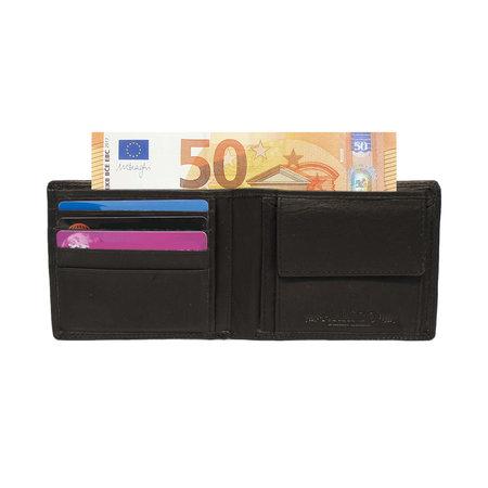 Zwarte Heren Portemonnee Leer Billfold Model Met RFID