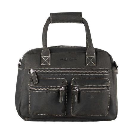 Zwarte Westernbag Of Schoudertas Van Vintage Buffelleer