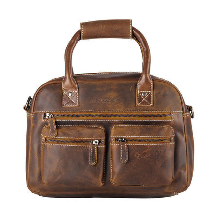 Westernbag Van Buffelleer In De Kleur Cognac/Lichtbruin
