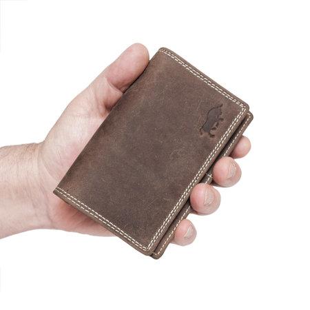 Dames Portemonnee Met RFID Van Lichtbruin Leer