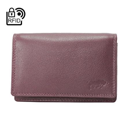 Dames Portemonnee Met RFID Van Bordeaux Rood Leer