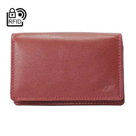 Dames Portemonnee Met RFID Van Donkerroood Leer