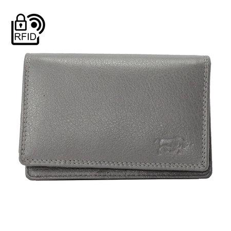 Dames Portemonnee Met RFID Van Grijs Leer