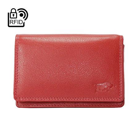 Dames Portemonnee Met RFID Van Rood Leer
