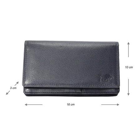 RFID Dames Portemonnee van Donkerblauw Leer