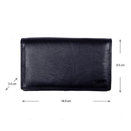 Dames Portemonnee van Donkerblauw Leer met RFID
