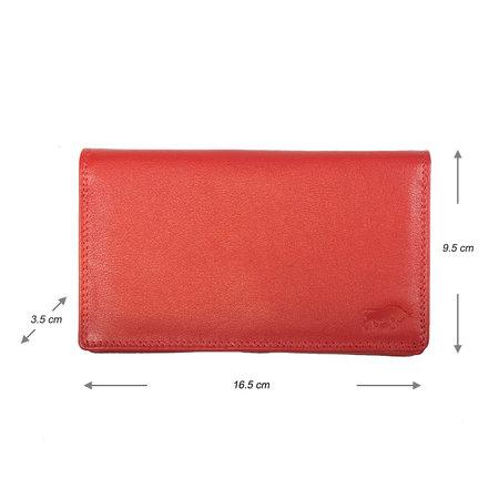 Leren Dames Portemonnee van Rood Leer met RFID