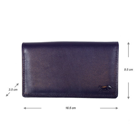 Dames Portemonnee van Donkerpaars Leer met RFID