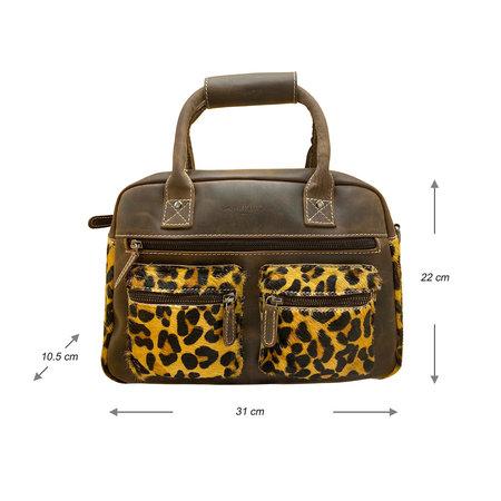 Leren Westernbag Donkerbruin met een Jaguar Print