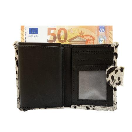 Leren Pasjeshouder Zwart met Cardprotector en Dierenprint