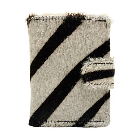 Leren Pasjeshouder Donkerbruin met Cardprotector en Zebra Print