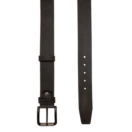 Leren Riem Antraciet 4.5 cm Breed met Zwarte Gesp