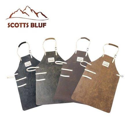 Bruin rundleren barbecue schort van Scottsbluf