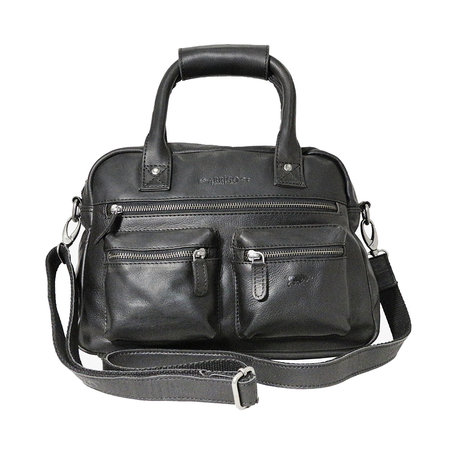 Rundleren westernbag in de kleur zwart, medium size