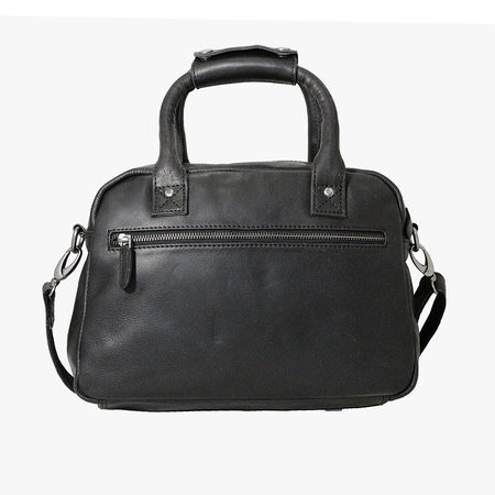 Rundleren westernbag in de kleur zwart, medium size