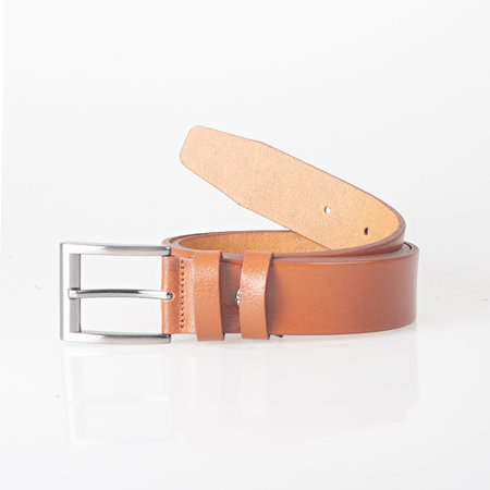 Riem Van Naturel Glad Leer - 4 cm Breed