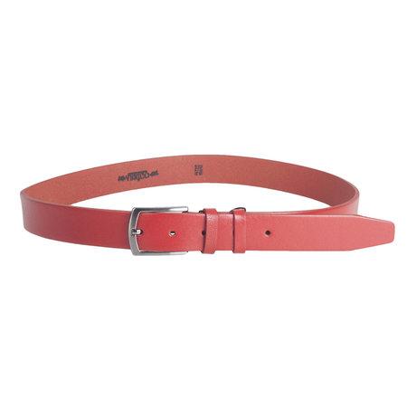 Rode Riem Gemaakt Van Echt Leer En 3 cm Breed