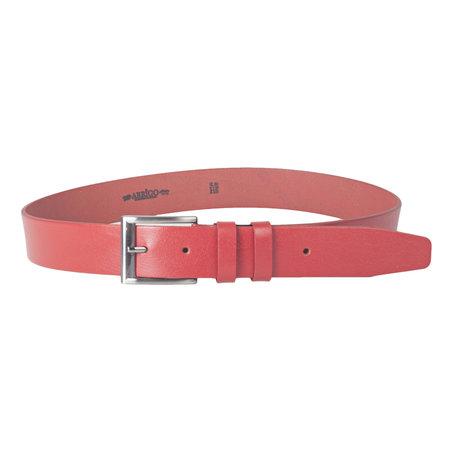 Riem van Arrigo gemaakt van rood leer en 4 cm breed
