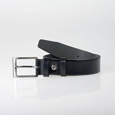 Riem van buffelleer van 3.5 cm breed in de kleur zwart