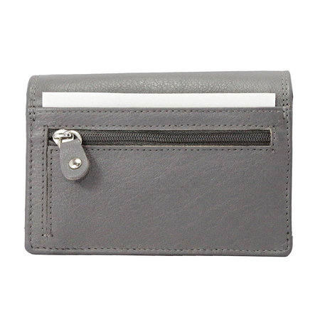 Leren dames portemonnee, grijs medium