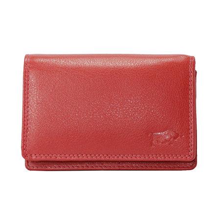 Leren portemonnee, rood medium