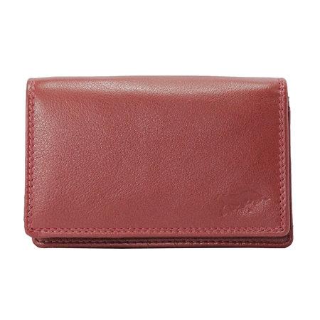 Leren portemonnee, donkerrood medium