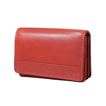 Lederen portemonnee, rood, medium size