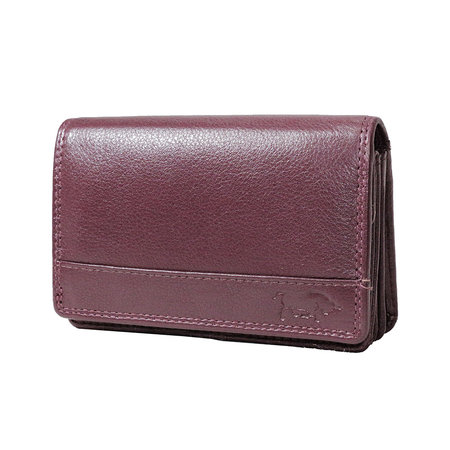 Lederen portemonnee, bordeaux medium