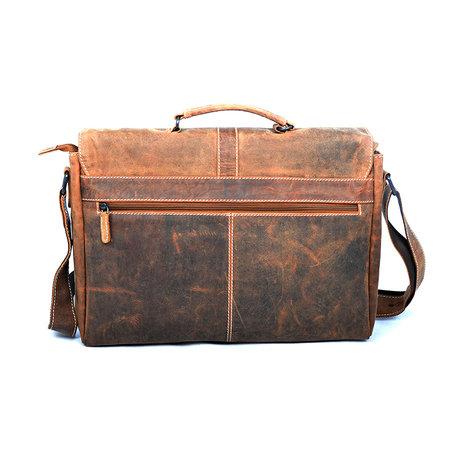 Messenger tas gemaakt van trendy naturel buffelleer
