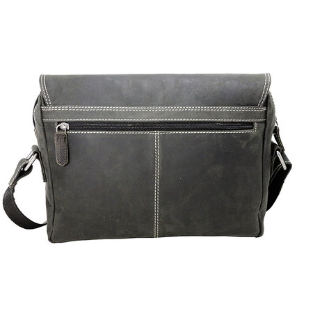 Zwarte Messenger Bag Van Trendy Buffelleer
