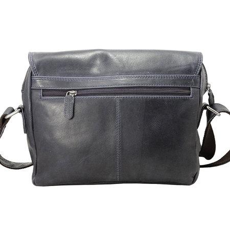 Messenger Bag Van Donkerblauw Leer