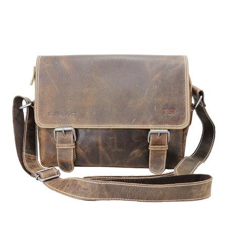 Messenger Bag Van Lichtbruin Buffelleer