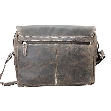 Messenger Bag Van Donkerbruin Buffelleer