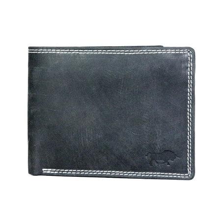 Zwart Leren RFID Portemonnee Voor Heren