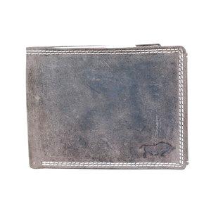 Arrigo buffelleren billfold portemonnee, donkerbruin