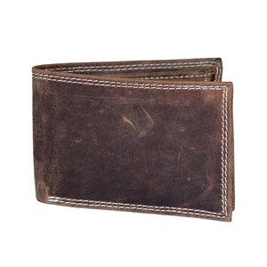 Billfold heren portemonnee van cognac buffelleer