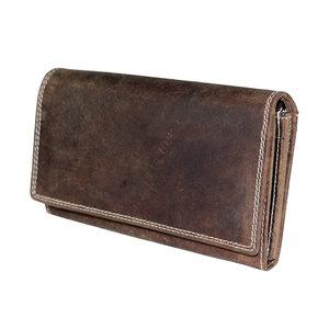 Dames portemonnee van cognac buffelleer - Arrigo