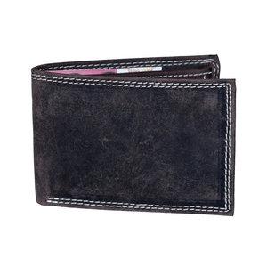 Billfold heren portemonnee van donkerbruin buffelleer