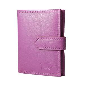 Pasjeshouder van rundleer in de kleur roze - Arrigo