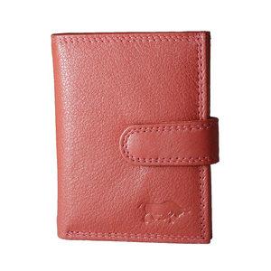 RFID pasjeshouder van rundleer in de kleur rood - Arrigo