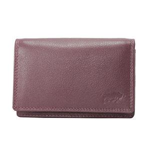 Rundleren RFID portemonnee medium size, bordeaux - Arrigo