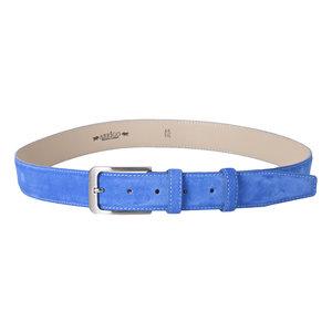 Suede riem in de kleur blauw - Arrigo