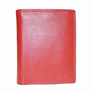 Rundleren euro portemonnee in de kleur rood - Arrigo