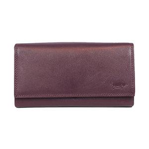 Bordeaux rode dames portemonnee met knipsluiting van Arrigo